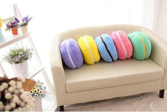 Macaron Kawaii Plushie Plush Pillow CUTE Sweet by ObsessedHeart