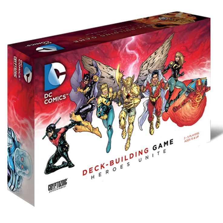Cryptozoic DC Comics Deck-Building Game Heores Unite