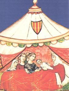 La nascita di Federico II. - Federico II di Svevia, re di Sicilia, di Germania e Imperatore del Sacro Romano Impero, nato il 26 dicembre 1194,Jesi e morto 13 dicembre 1250, Torremaggiore e sepolto nella Cattedrale di Palermo. Veniva dopo quasi nove anni di matrimonio infecondo, e per giunta da una donna  matura come madre. Tanto che a tutti l'evento parve portentoso e come tale fu salutato da avversari e sostenitori dell'idea imperiale... - Claudio Alessandri