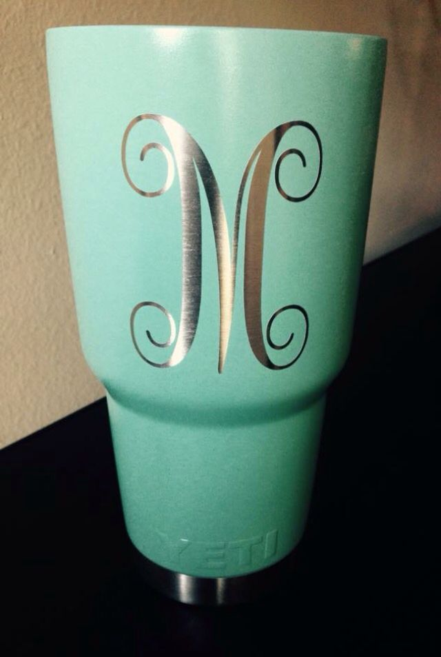 Custom yeti rambler in robin39s egg blue cerakote call for Letter decals for cups
