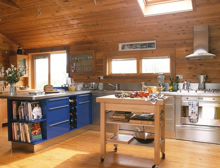Log Cabins Inside KITCHEN | This Kitchen Like The Whole House (large Log  Cabin)