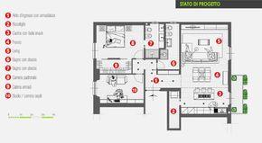 progetto ristrutturazione appartamento 85 mq Progetto