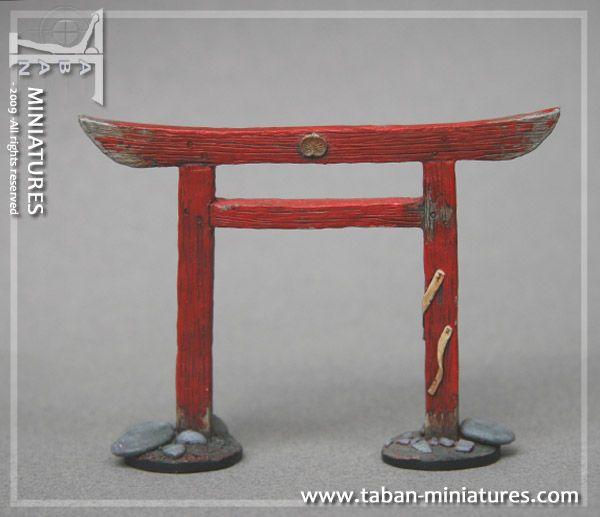 Tori gate models minis pinterest for Decoration jardin japonais miniature