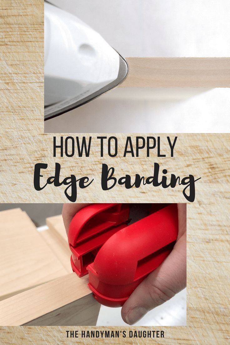 DIY Woodworking Ideas Give your plywood a finished look with edge banding! This simple iron-on edge ba...
