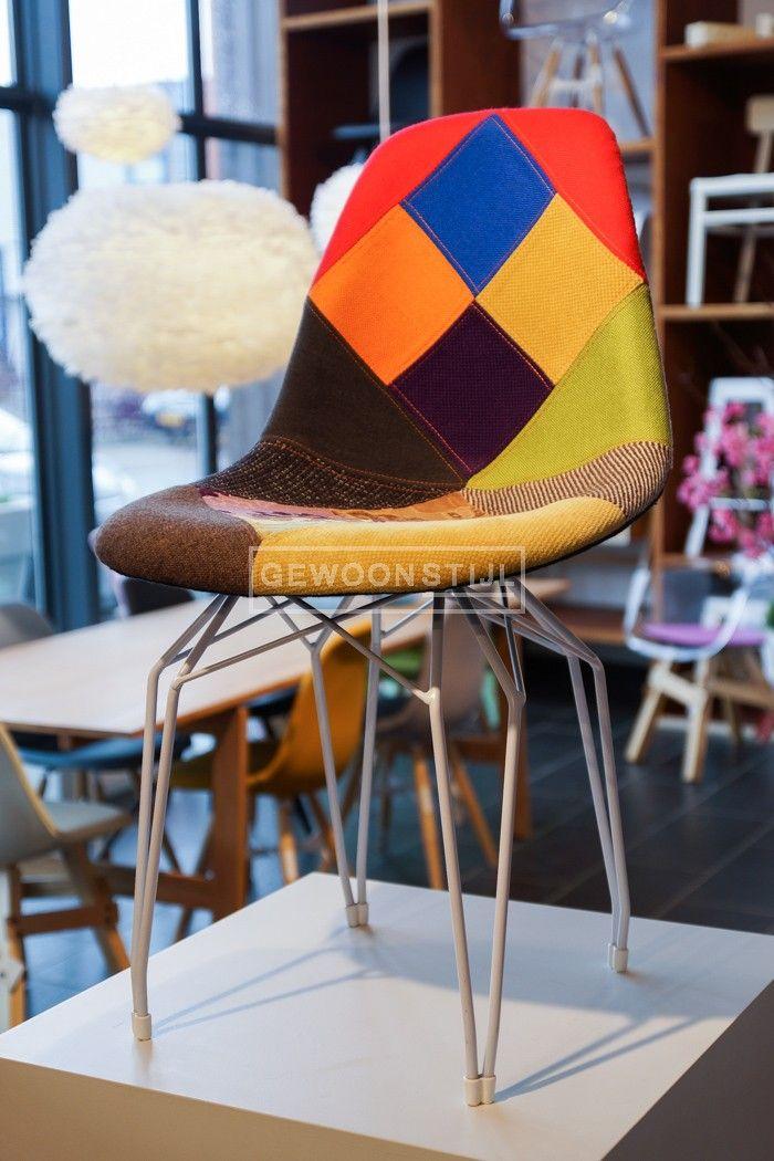 Diamond stoel | Patchwork #Kubikoff #kleurrijk | www.gewoonstijl.nl