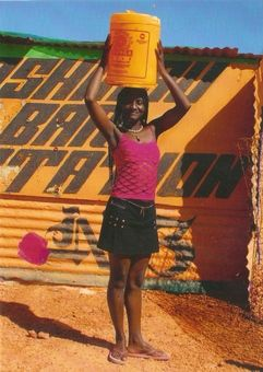 Fever recovery day | Pen's Personal Pages (Brightly coloured postcard from Namibia)