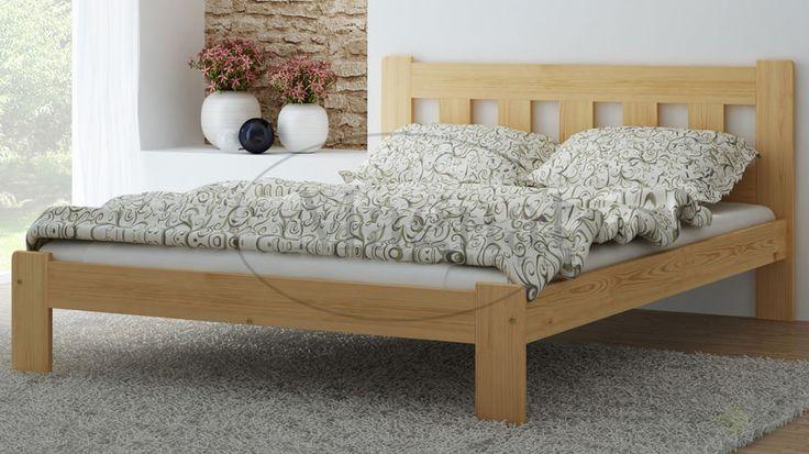 Łóżko sosnowe Brita 120x200, Magnat - producent mebli drewnianych i materacy - Meble