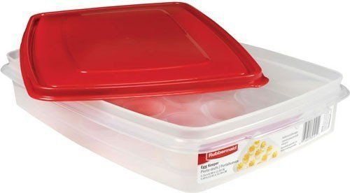 Rubbermaid - Egg Keeper-Red Cover, 2 Pk, Holds 20 Jumbo Eggs, Clear, Plastic, 2015 Amazon Top Rated Food Storage #Kitchen