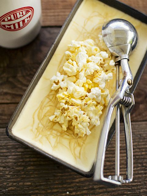 Popcorn salted caramel ice cream: Popcorn Ice Cream, Spicy Icecream, Caramel Popcorn, Salts Caramel, Spicyicecream Recipes, Caramel Ice Cream, Churn Popcorn, Popcorn Salts, Salted Caramels