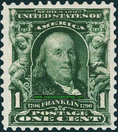 Benjamin Franklin 1908 Stamp