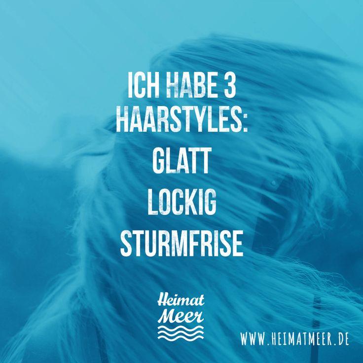Ich habe 3 Haarstyles: Glatt. Lockig. STURMFRISE. Kennt ihr? Wie wär's mit unserer Beanie? >>