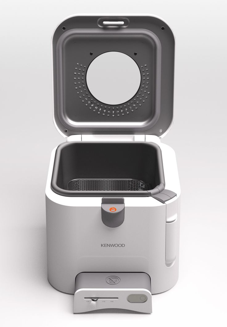 Kenwood Easy Clean Fryer   Square   Open   Front View