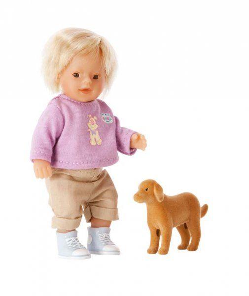*Novinka 2011! my mini BABY born® Panenka s vlasy + zvířátko > varianta chlapeček > 14 cm