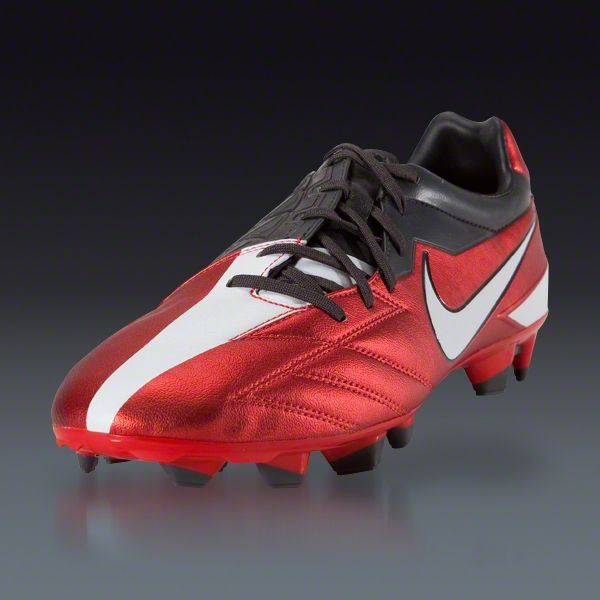 Nike T90 Strike IV FG - Challenge Red/White/Anthracite Firm Ground Soccer  Shoes