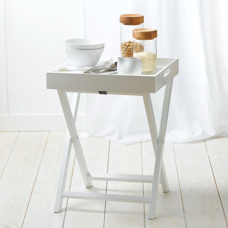 Lacquer Butleru0027s Tray Table   White Lacquer Collection   Home Collections    The White Company UK