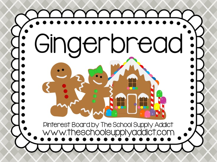 Gingerbread Pin Board by The School Supply Addict