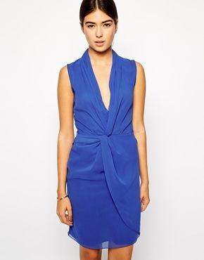 VLabel+London+Somerset+Tuxedo+Dress+with+Wrap+Front $75