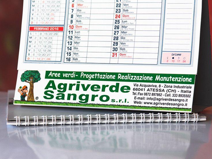 Cliente: Agriverde Sangro srl | Calendario - Personalizzazione a colori