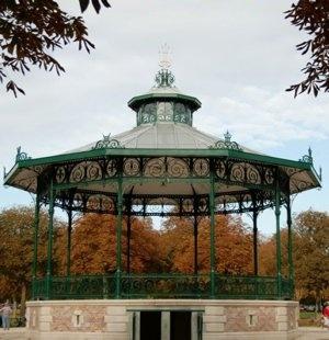 Bandstand in gardens of Jard,Châlons-en-Champagne,Marne.