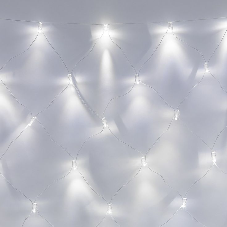 140 LED White Net Light 2m X 2m, Clear Cable