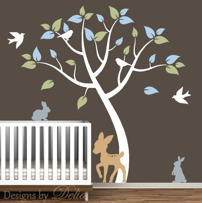 17 best images about bunny mural on pinterest nursery for Deer mural decal