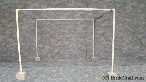 pvc pipe and drape | Step 14: Your frame should look like this. Do a wiggle test to make ...