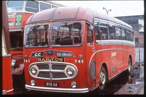 Bus Colour Slide Barton AEC Reliance/Plaxton Venturer SVO 44 | eBay