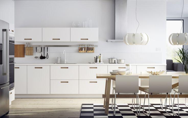 METOD keuken   #IKEA #IKEAnl #Nordische #wit #inspiratie #keukensysteem #MÄRSTA #geïntegreerde #handgreep
