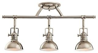 Kichler No Family Association 3 Light Track Lighting in Polished Nickel - Traditional - Track Lighting - by Hansen Wholesale