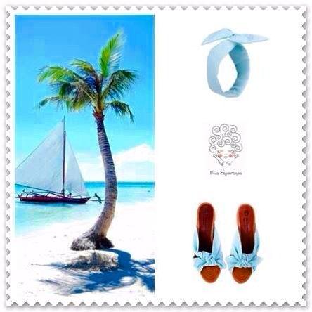 Miss Espartinas Navy Turquoise. #espadrilles #alpargatas #marinero #nautico #rayas #azul #blanco #blue #white #cuña #lazo #headband #wedges www.missespartinas.com