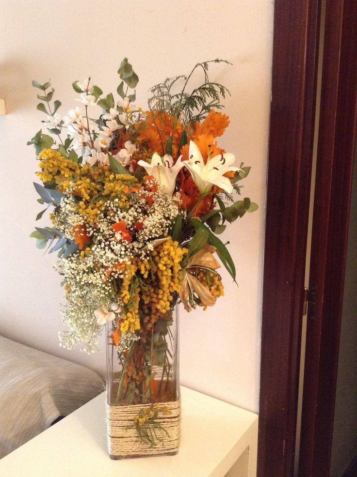 Mejores 17 im genes de jarrones flores secas primavera - Adornos flores secas ...