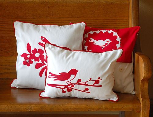 Cute Heated Pillows : Fabric appliques made with the Cricut machine. Just iron fabric to heavy-duty Heat n Bond & cut ...