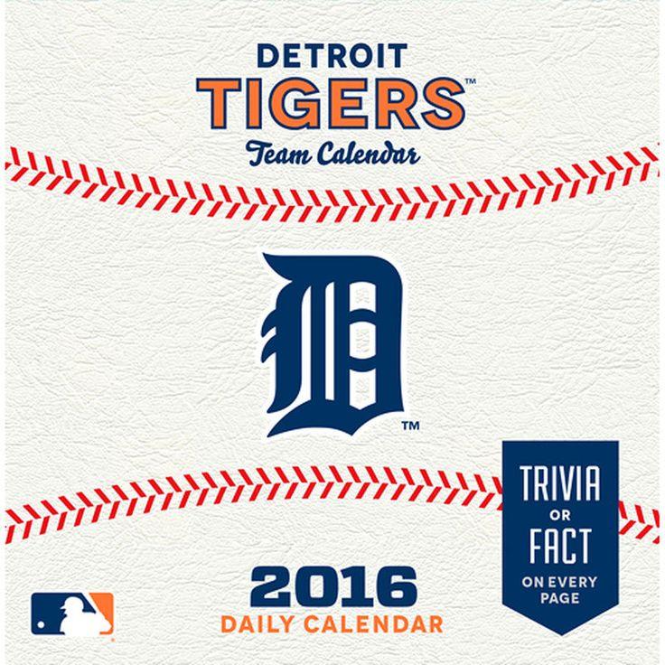 Detroit Tigers 2016 Box Calendar