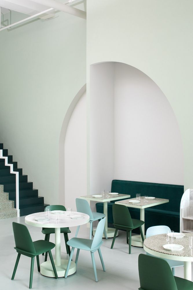 Gallery Of The Budapest Cafe Biasol 13 Minimalism Interior Modern Interior Design Minimal Interior Design