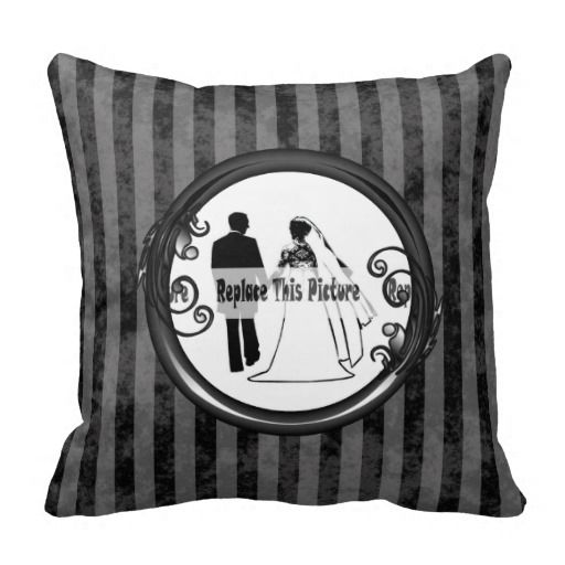 http://www.zazzle.com/black_grey_dark_vintage_frame_throw_pillows-189107340739145899?rf=238523064604734277 Black Grey Dark Vintage Frame Throw Pillows - This throw pillow cushion has a black and grey striped, grunge background which looks faded and old. Place your name inside the shiny black frame with leaves and swirly vines growing from it. Mothers day, fathers day, Christmas, wedding, birthday memento gift.