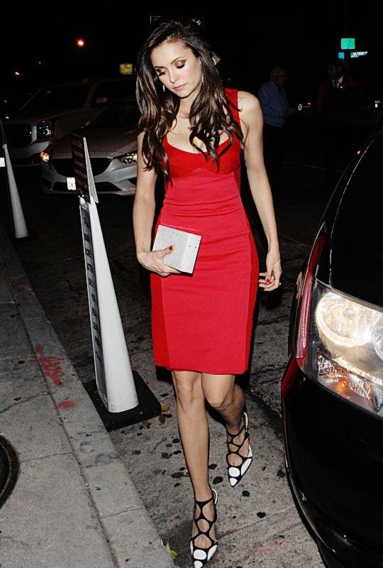 Nina Debrov leave Craig's Restaurant in West Hollywood - 23/11