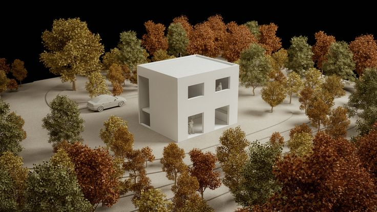 Standardised One-Family House Prototype 130 sqm, 3D Architectural Model - www.pzarch.gr