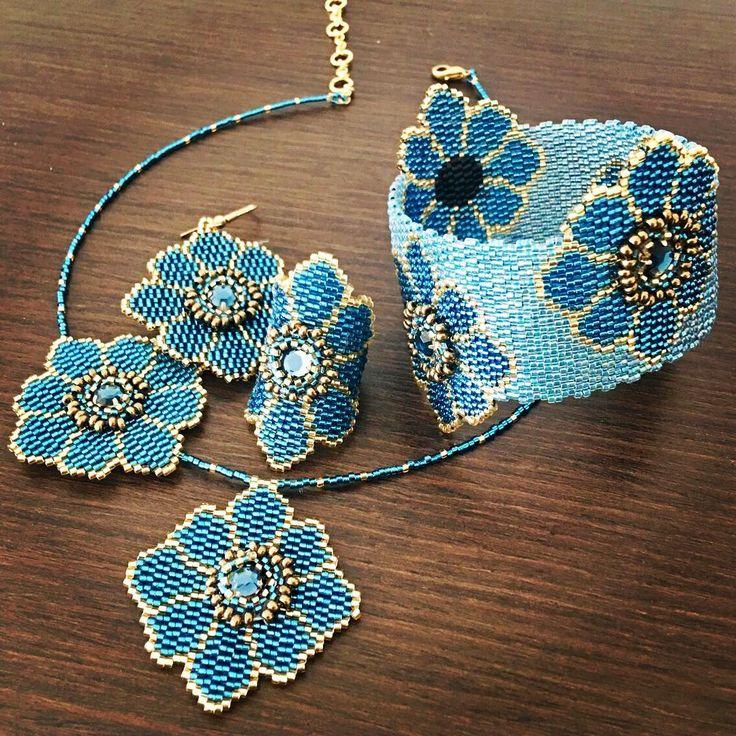 """440 Likes, 12 Comments - KETIKO PARIS (@ketikoparis) on Instagram: """"Bracelet à #fleur et #strass #turquoise #ketikoparis #bijoux #jewelry #beautiful #mode #fashion…"""""""