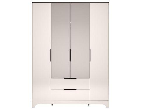 Шкаф д/одежды 4-х дверный с ящиком и зеркалом мод.2 Танго