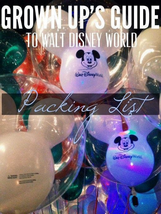 Grown Ups Guide to Disney World: The Ultimate Packing List. Breaks down each month and average temps for each then suggests what type of clothes you would need to pack.