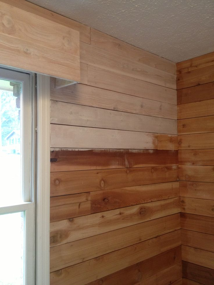 Basement Cedar Planks Wood Plank Walls Painting Wood