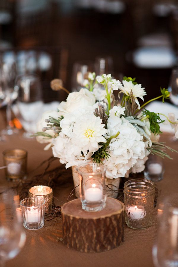 Ideas about tree stump centerpiece on pinterest