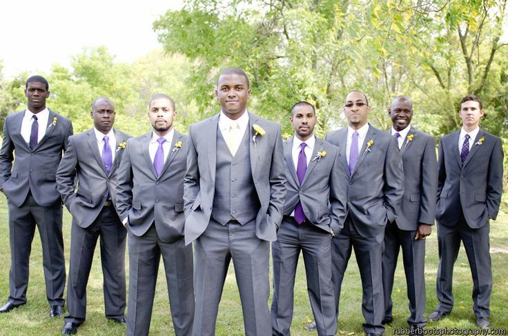 Groomsmen boutonnieres can be unique to each gentlemen.  Ask your florist for ideas. Real Wedding: Bride's Grandmother's Backyard in Michigan.