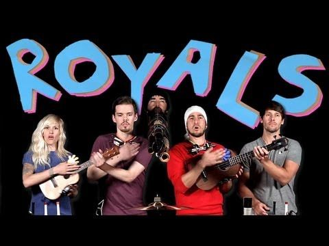 I wonder how many takes they had to go through to get this right! ▶ Royals - Walk off the Earth - YouTube