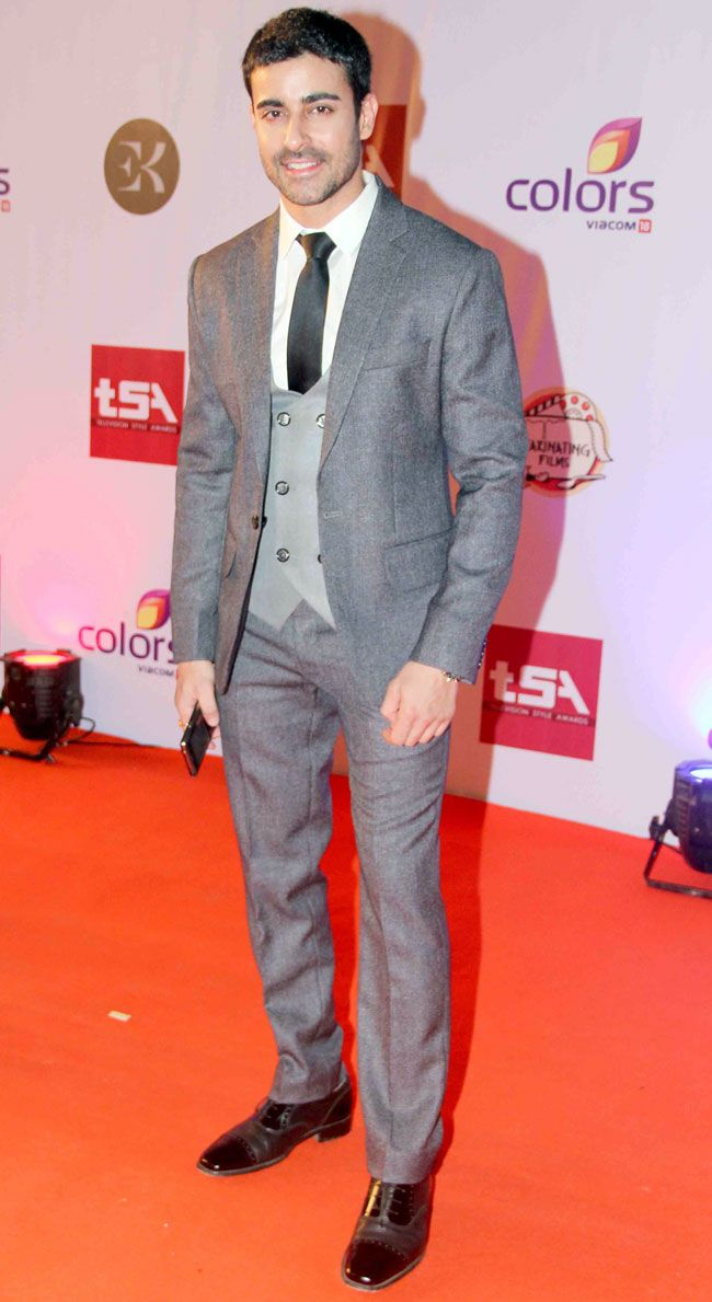 Gautam Rode at the Television Style Awards.