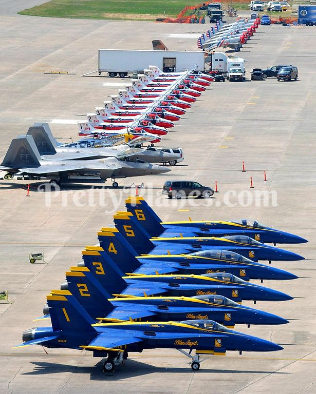 """A flight line of the """"Patriot Wing""""—the 439th Airlift Wing"""
