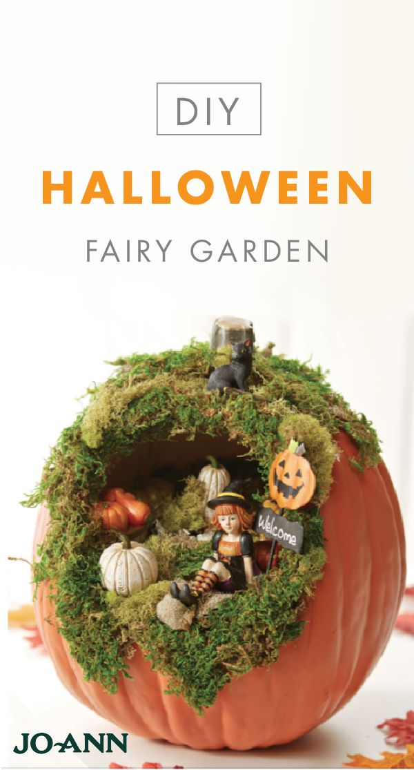 Let your imagination and creativity soar with this craft idea for a Halloween Fairy Garden from Jo-Ann. This unique decor piece is perfect for giving your home a festive fall twist—perfect for showcasing in your entryway or on your dinner table.