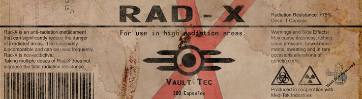 RAD-X Label from Fallout by Dispater0703.deviantart.com on @DeviantArt