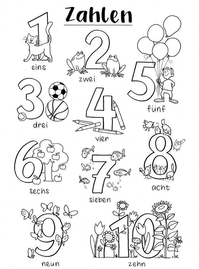 Ausmalbilder Zahlen von 1 10 für kinder e1538568438450