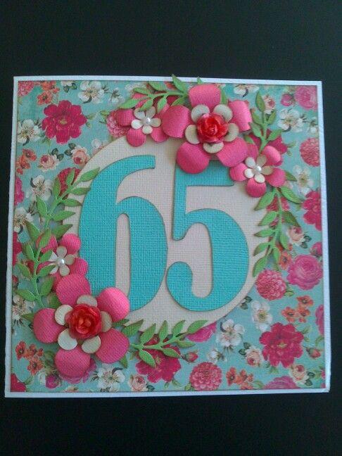 65års fødselsdagskort til moster Rie